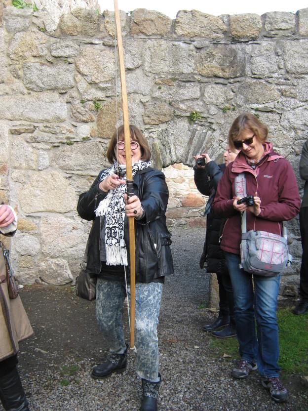 archery in Dalkey Castle